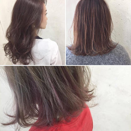その他 カラー パーマ ヘアアレンジ ミディアム Real  salon work✂︎ 【 ピンク系カラーデザインの色々✨】  *左上写真* 『 ブリーチなし⭕️淡い暗髪ピンクカラー 』  ピンク系カラーは、 発色が強いので、ブリーチしなくてもこのくらいの 暗さのある中で透明感ある発色が楽しめます☆ ピンクカラーに挑戦した事のない方は、コレが一番オススメです✨   *右上写真* 『 3Dハイライト&ハイトーンピンクカラー 』  ハイライトを入れた上で、 ハイトーンのピンク系カラーで染めました! 先程も春のオススメの中でハイトーンというキーワードを挙げましたが、 ピンク&ハイトーンで、 より春っぽさ、淡さのある色味でハイライトが入っている事により透明感と立体感を 演出してくれます✨   *下写真* 『 ブリーチ&インナーピンクカラー 』  デザイン性の強いカラーですね! 全体は、トーンUPしてベージュ系でカラーを。 インナーにブリーチした事で得られる淡いピンクを挿し色にしたデザインカラー! 見え隠れするピンクがさり気ないお洒落感を引き立たせてくれます✨