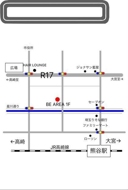お店の地図です。 BE AREA所属・土屋慶介のスタイル