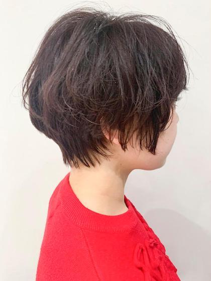 ショート 深いパープル色がかわいい😍 丸さを残したショート 髪質、骨格、頭の形、顔の形みてカットしております お任せください❤️
