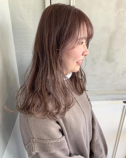 🌷平日限定🌷『トリートメント付き🤍』髪質改善カラー(ワンカラー)