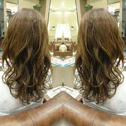 ブリーチなしで、透明感ある外国人風カラーです☆ AUBE hair lagoon所属・田辺貴裕のスタイル