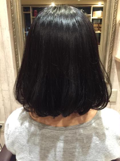ふんわりボブですね! 11levelのハイトーン毛を綺麗に黒染めです^ ^ hair room mavie所属・佐々木遼太郎のスタイル