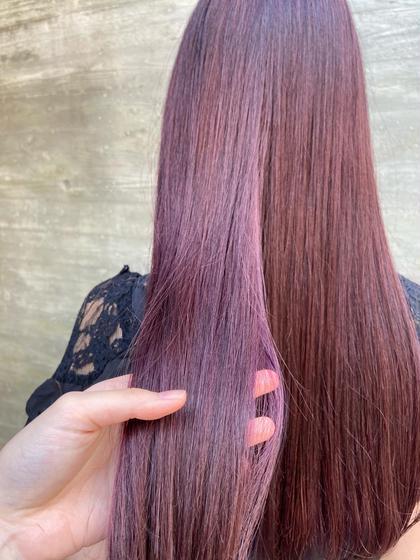 髪質改善酸熱ストレートトリートメント♩ + 毛先2センチメンテナンスカット + 4日間の集中ホームケア付き