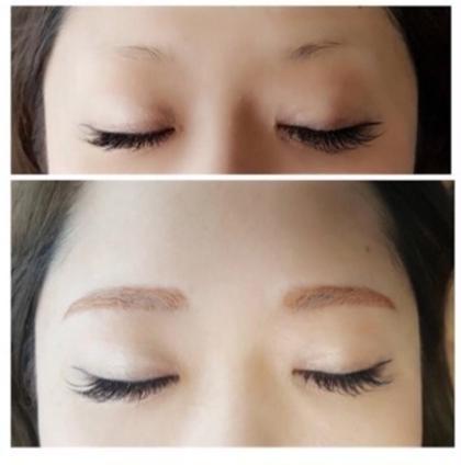 眉毛デザイニング+眉毛カット+眉毛エクステ
