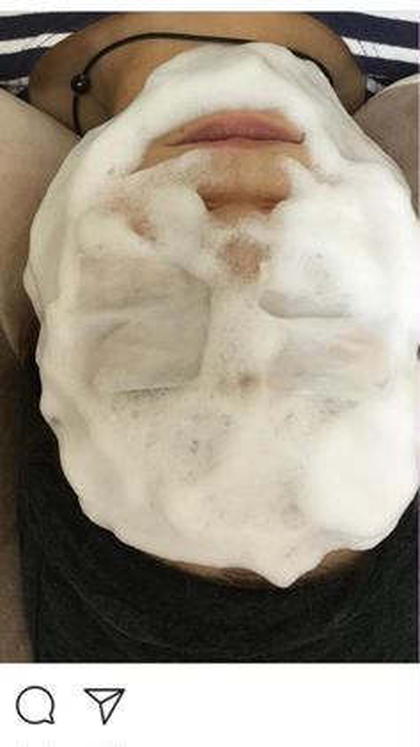 泡洗顔です 肌がワントーン明るくなりますよ♪