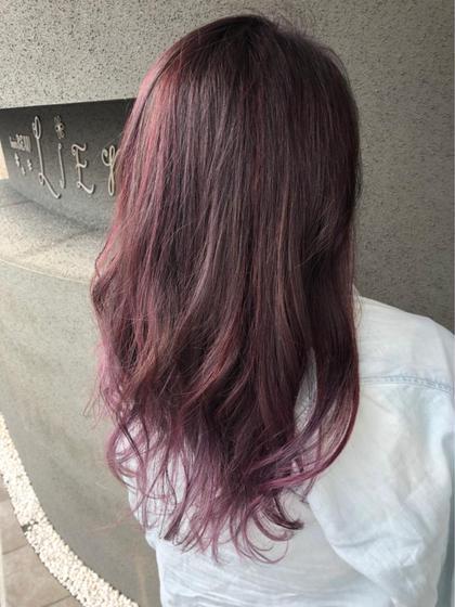 ピンクパープル3Dカラー hair'sBEAULiEn所属・堤文哉のスタイル
