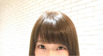 セミロング 前髪カット
