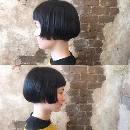 コンパクトなミニボブ♪ リップラインチョイ上の長さが  可愛い♪ magiy hair所属・nico。のスタイル