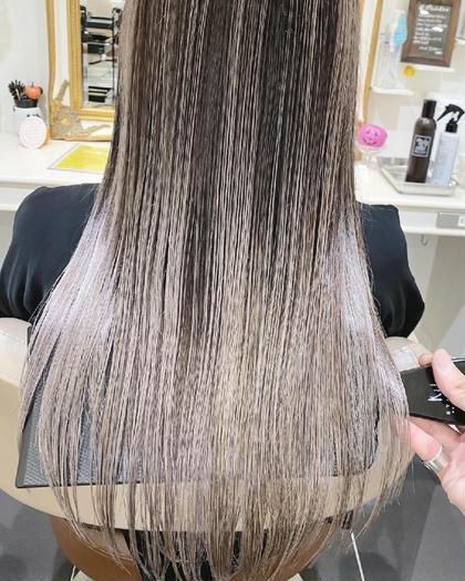 NO1人気👑【感動体験✨髪もツヤツヤ&透明感カラーにしたい方⭐】カット+カラー+プチ髪質改善