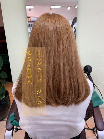 ワンブリーチでミルクティ色に✨ SHAPE GARDEN 亀有所属・米田日菜子のスタイル