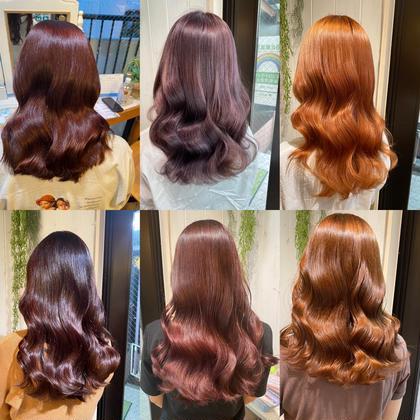🍰艶感重視🍰❣️暖色トレンドカラー+髪質改善トリートメント❣️コテ巻き仕上げ¥15400→¥6600