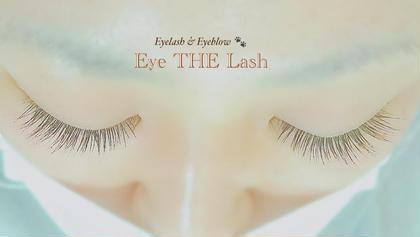 シングル160本。長さを控えめにしながら本数でボリュームUP☆自まつ毛にクセがあっても自然に馴染ませられます。 Eyelash&EyebrowEye THELash所属・EyeTHELashのスタイル