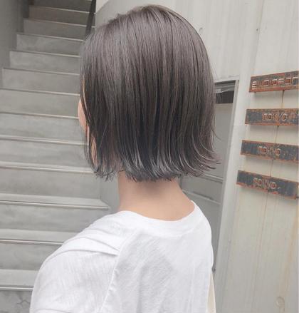 その他 カラー ショート ヘアアレンジ 切りっぱなし×マットグレージュ(^^)