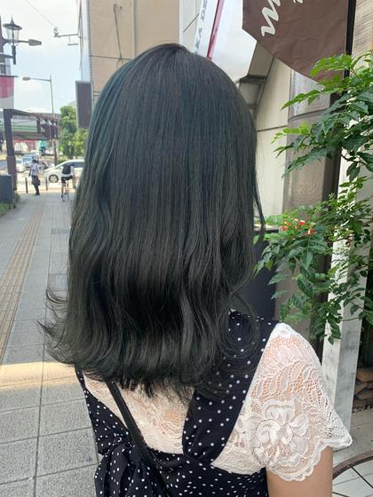 【平日限定】透明感たっぷりオーガニックカラー+艶感満点💯3stepハホニコトリートメント🤍巻き髪スタイリング込み🤍