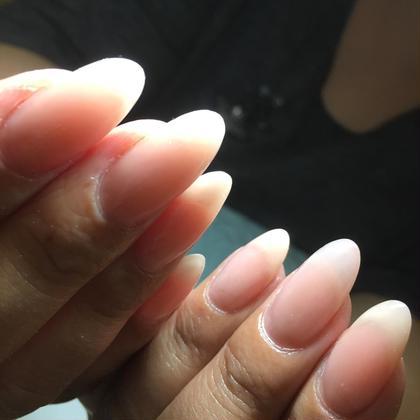 自爪がこんなに長いのは何年ぶりだろう(ToT)  LUXEYpremierのネイルデザイン