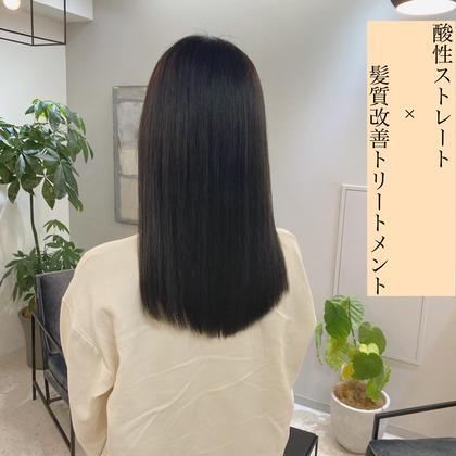 ダメージレス髪質改善ストレート+後処理トリートメント🎶 (ブリーチ毛可能⭕️)