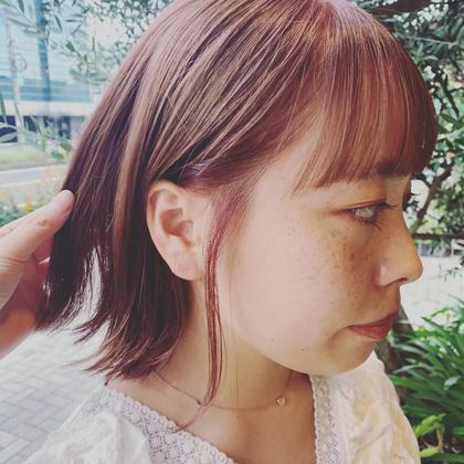 【カラーモデル女性限定】カラー+トリートメント(シングルカラー)ロング料金胸下+¥1100-
