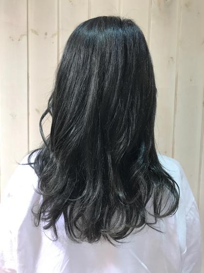 大人っぽい寒色ブルーグレージュカラー🌺 Neoliveeast鶴ヶ峰店所属・福沢清菜のスタイル