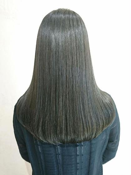 ✨グロッシー暗髪カラー【最上級カラー】・プラチナ黒髪カラー選べるクーポン+トリートメント✨