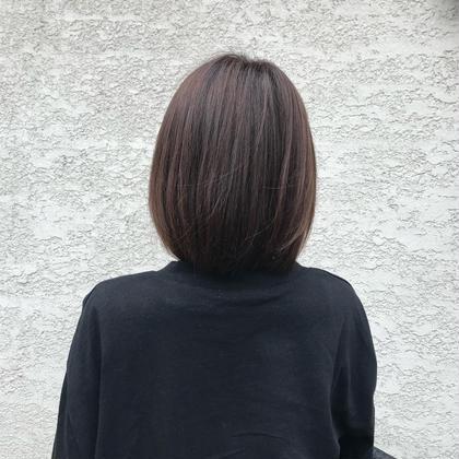 小顔カット+潤い縮毛矯正+オリジナルトリートメント+アウトバスtr