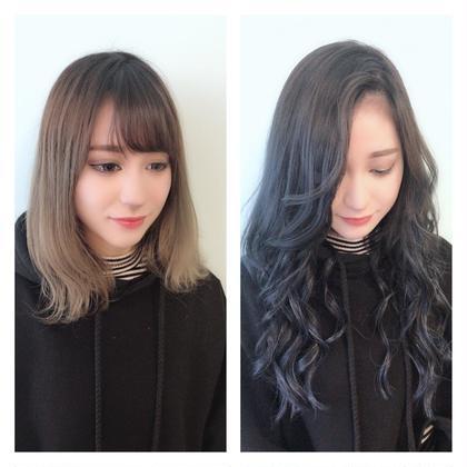 深みのあるブルージュにエクステでかっこいい、かわいい stylist Asunaのロングのヘアスタイル