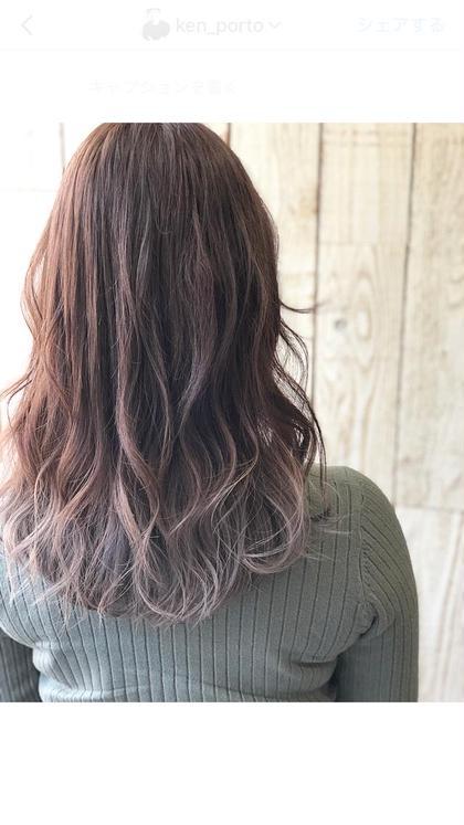 ✨グラデーション(毛先ブリーチ) ✨イルミナカラーorアディクシーカラー ✨ 高級ハホニコトリートメント/前髪カット付き