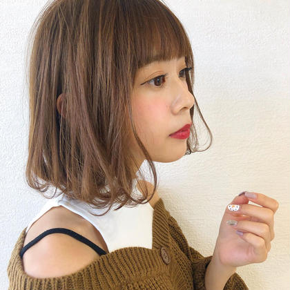【❣️ 10月限定❣️】✨透明感カラー✨+✂️ポイントメンテナンス前髪カット✂️+❣️スチーム美的トリートメント❣️