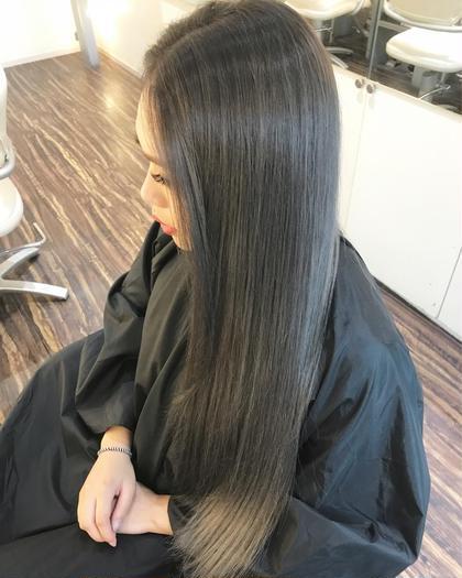 【こだわりストレート】低ダメージ縮毛矯正+髪質改善★5stepトリートメント