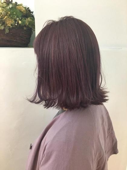 カラー ショート ヘアアレンジ pine violet