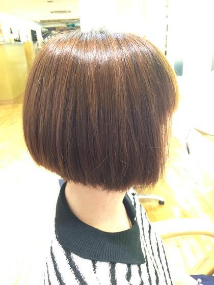 前下がりボブ。  スタイリングなしで内巻きに! loops hair所属・永柳里沙のスタイル