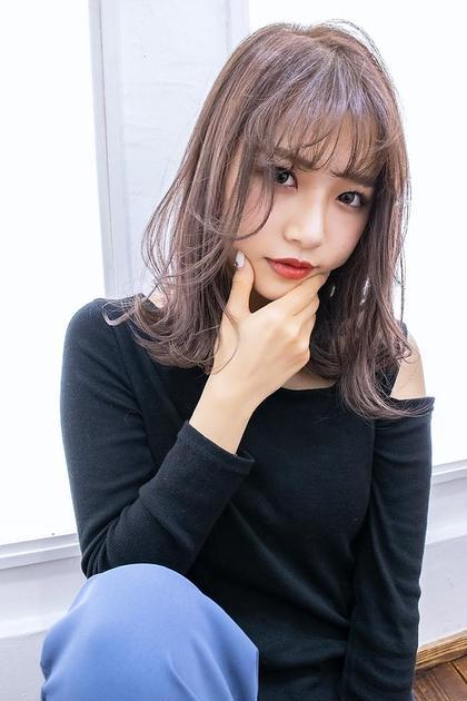 カット十艶髪透明感カラー(イルミナ、アディクシーetc)(90分)¥6900