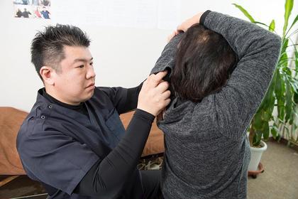 肩の可動域のチェック