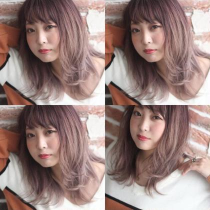 ラベンダーピンク✄グラデーションで周りと差をつけちゃえ♪ 渋田幸恵のヘアスタイル・ヘアカタログ