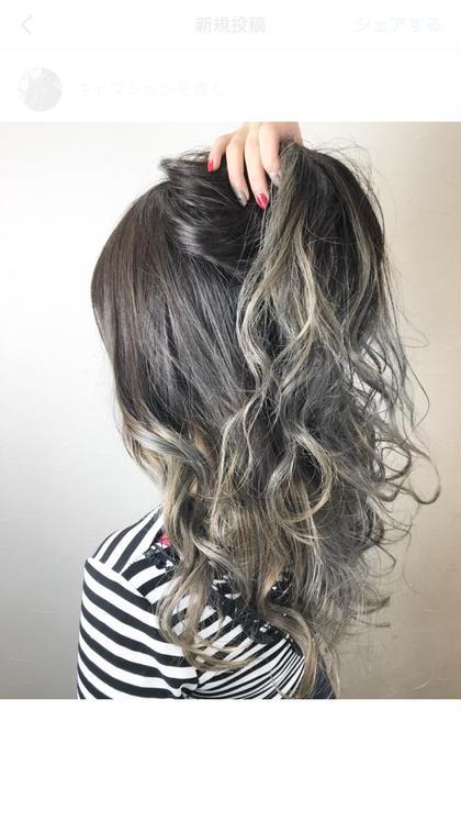 岸雄一のロングのヘアスタイル