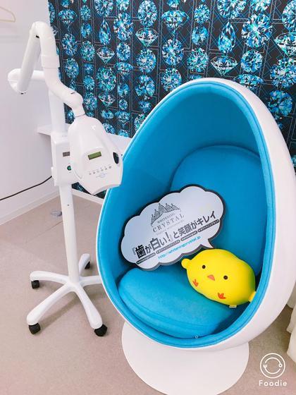 【ホワイトニングスペース】 タマゴ型の椅子でリラックスしながら施術していただけます♪ リラックスしすぎて寝ちゃう方も…!? WHITENING CRYSTAL所属・ホワイトニングクリスタルのスタイル