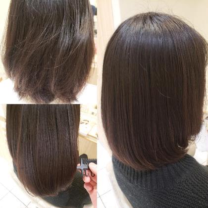 🐰サラツヤ髪質改善コスメトリートメントストレート🐰&似合わせカット💜