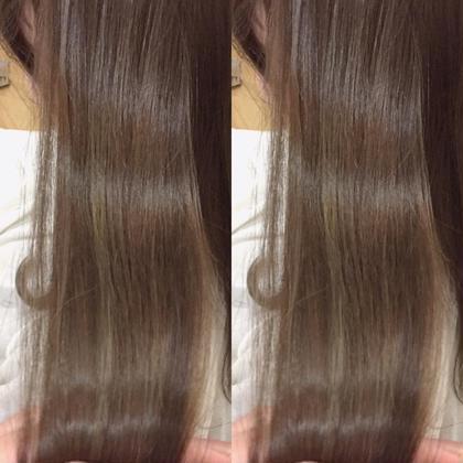 カラー ロング 髪質改善潤艶グレージュ❌サロン専用トリートメント  艶の出るグレージュにサロン専用トリートメントで 圧倒的な艶を出します!!  3000円から1800円の40%OFFでご案内中‼️ めちゃめちゃお得です‼️