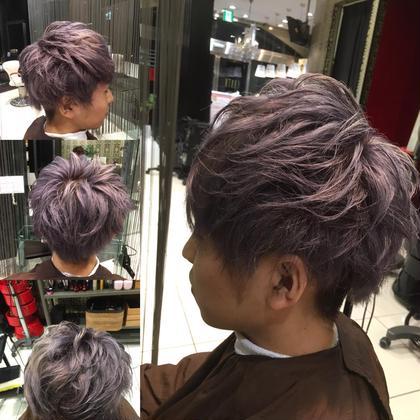ダブルカラーでパープルアッシュをオン! Hair&Make EARTH所属・榎本雅朗のスタイル