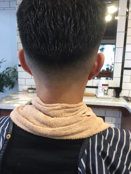 フェードスタイル barberスタイル   FREEMANS SPORTING CLUB所属・若狭心のスタイル