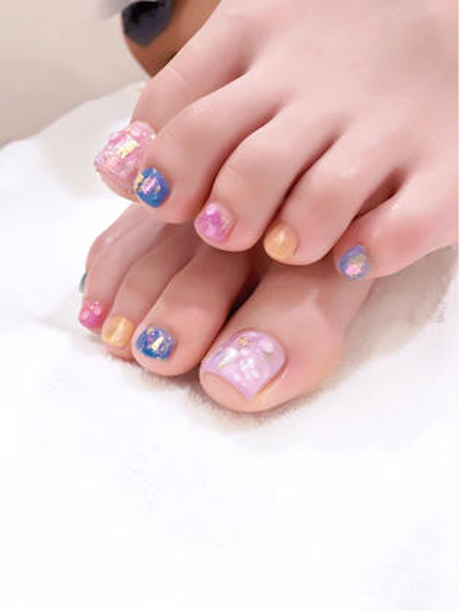 【minimo新規限定】オフなし/90分アートデザイン放題コースfoot nail (🌟持ち込みデザイン可◎)