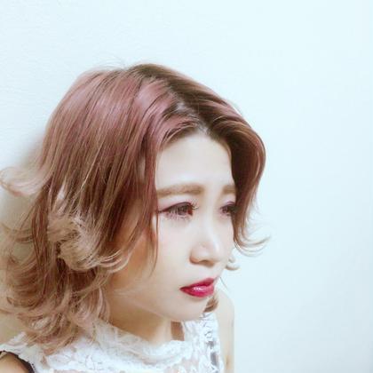 ピンクグラデーションアッシュ!! Mode k's  sylph心斎橋所属・モリノゾミのスタイル