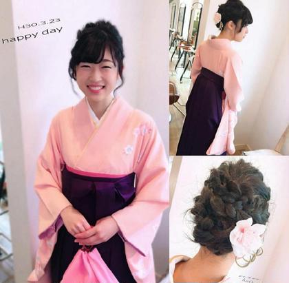 やっぱり、弾ける笑顔は素敵ですね☺️✨✨  成人式・卒業式・結婚式などなど、心を込めて精一杯お手伝いさせていただきます。 ara HAIR所属・服部幸恵のスタイル