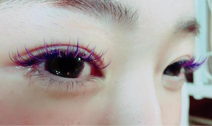 カラエク  Dカール 青と紫とブラウンと薄いパープルをmix