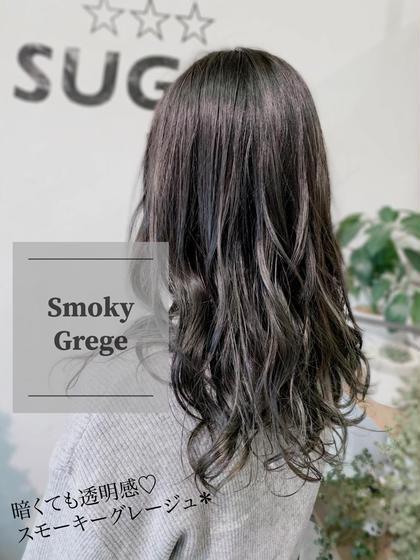 ブリーチ履歴のある髪に、しっかり濃い色味をいれました🙂 イルミナカラーなので透明感たっぷりです🍬