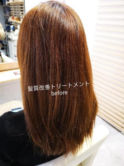 美髪チャージ(髪質改善トリートメント)ビフォー MALQ HAIR CARE所属・小松樹のスタイル