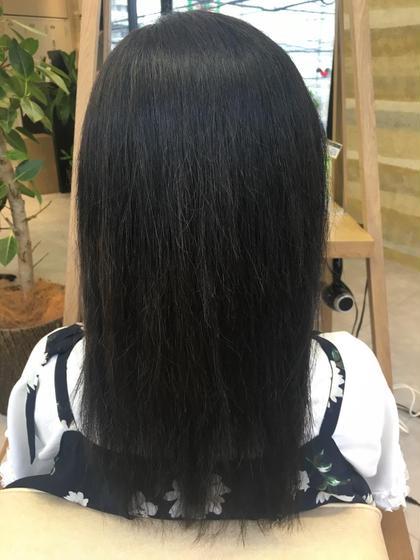 3週間で色が抜けたということで、濃いめに! 地毛に近いお色です! crop es   大船 西口店所属・江縫美咲のスタイル