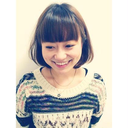パッツンボブ  前髪はだいたんに ひろくパッツンに   仙台美容室utata所属・梶谷亮汰のスタイル