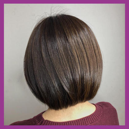 💜大人気💜前髪カット+透明感カラー