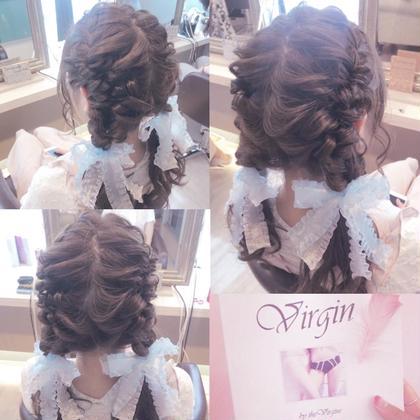 もこもこツイン🍒 矢部美咲のセミロングのヘアスタイル