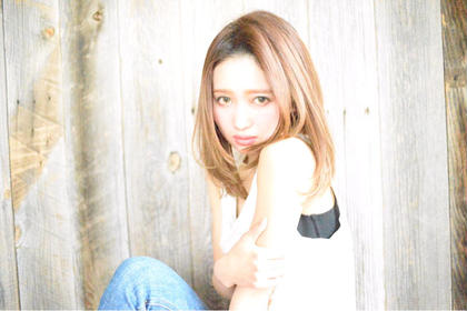 外国人風ハイトーンカラー☆レイヤースタイル☆ LAUREN所属・帰来雅也のスタイル